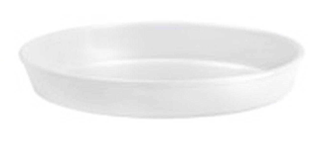 Pirofila risottiera ovale in porcellana liscia cm.47x28x6,2h