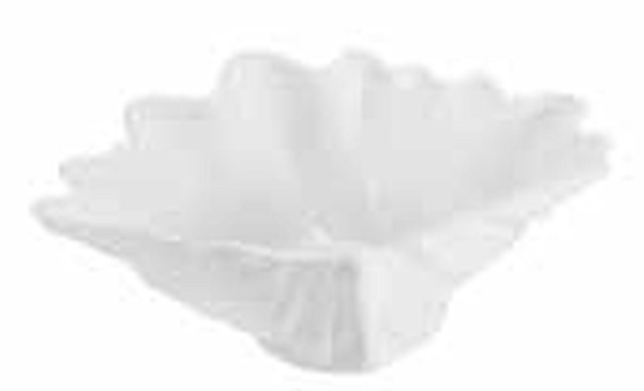 Piatto quadrato ciotola in porcellana bianca a forma di conchiglia