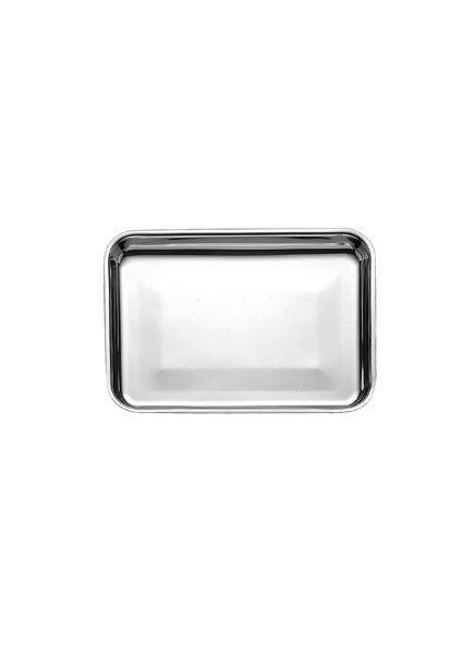 Vassoio rettangolare da pasticceria in acciaio inossidabile cm.25x18x2h