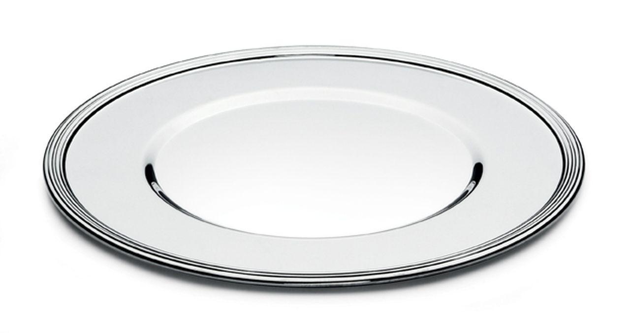 Sottopiatto argentato argento 10 microns stile Inglese spessore lastra 1 mm