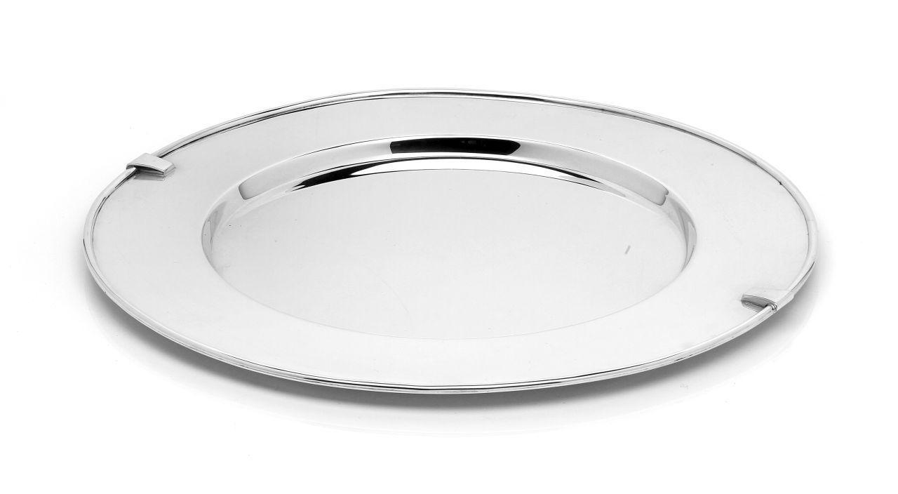 Sottopiatto argentato argento 10 microns stile Inglese cm.diam.33