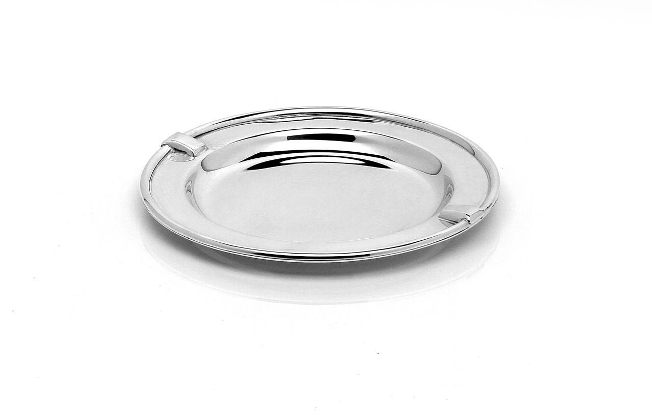 Sottobottiglia argentato argento stile Inglese cm.diam.13