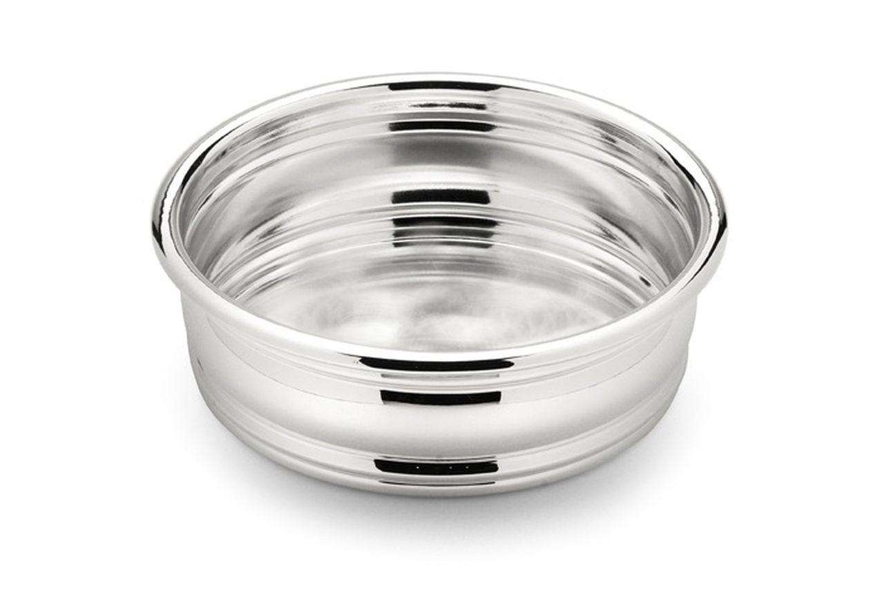 Ciotola in argento argentato liscia cm.3,5h diam.11