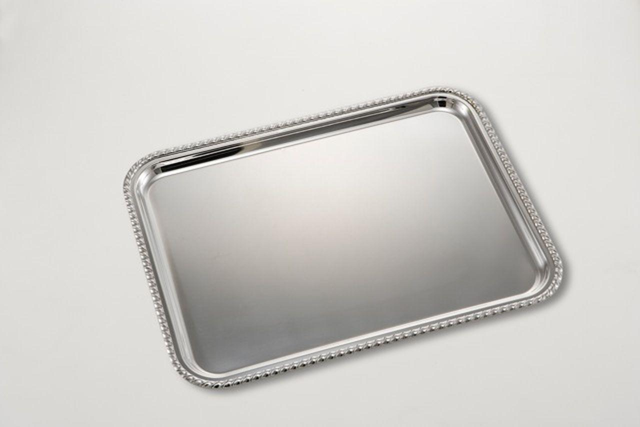 Vassoio Rettangolare Stile SAN  MARCO Argentato Argento cm.50x38