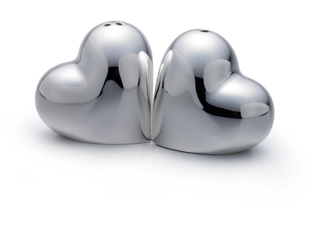 Sale e pepe cuore argento silver plated cm.3,5x3,5x4,5h
