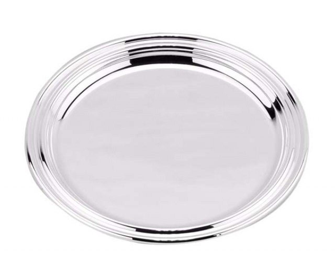 Sottopane silver plated stile Inglese cm.1,5h diam.14