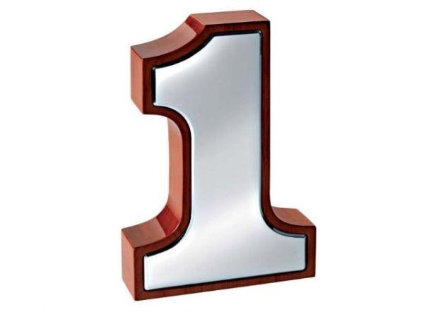 Numero 1 winner cromato cm.20,5x14,2x4,4h