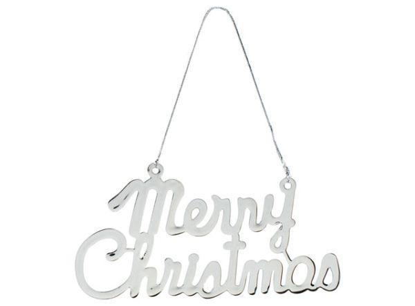 Decoro cromato Merry Christmas