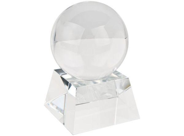 Coppa sfera decorazione con base in vetro bianco