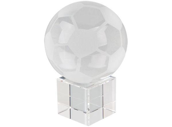Pallone da calcio con base in vetro cm.8x8x12,5h