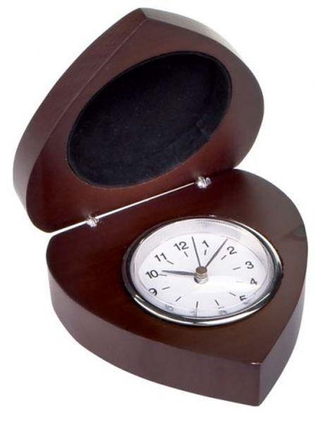 Orologio in legno cuore