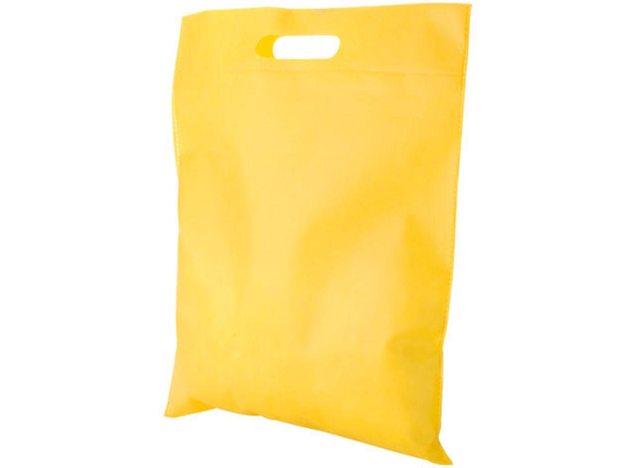 Borsa in tnt gialla cm.44x34x0,1h