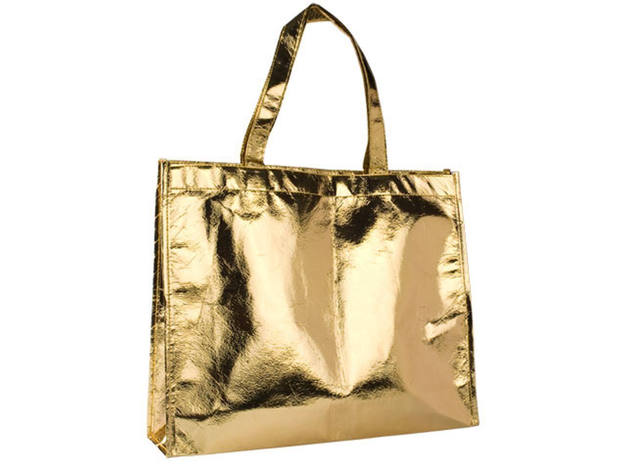 Shopping bag mirror oro cm.39x11x32h