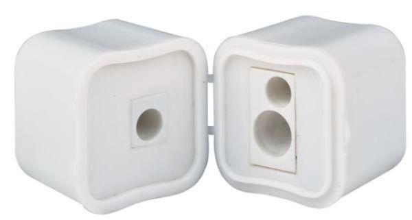 Temperamatite in plastica bianca cm.3,8x3,8x6,5h
