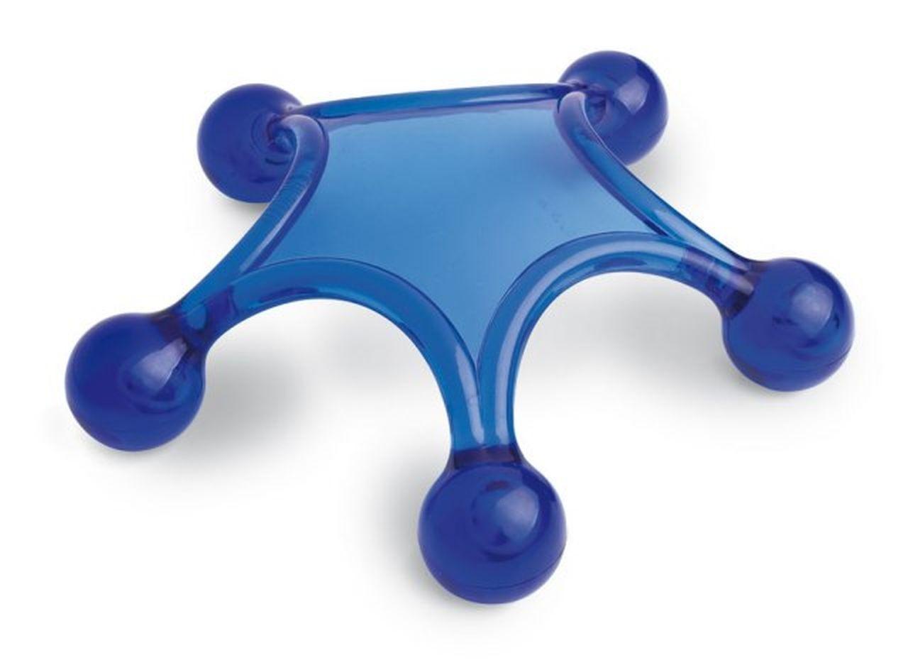 Massaggiatore Stella plastica blue cm.14,2x14,2x3,5h