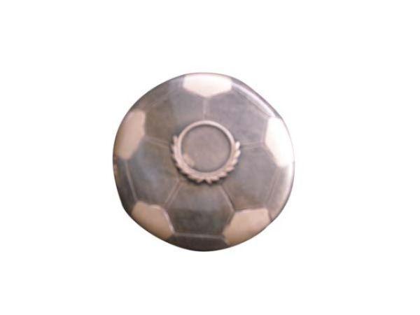 Trofeo pallone calcio in due colori cm.3h diam.15