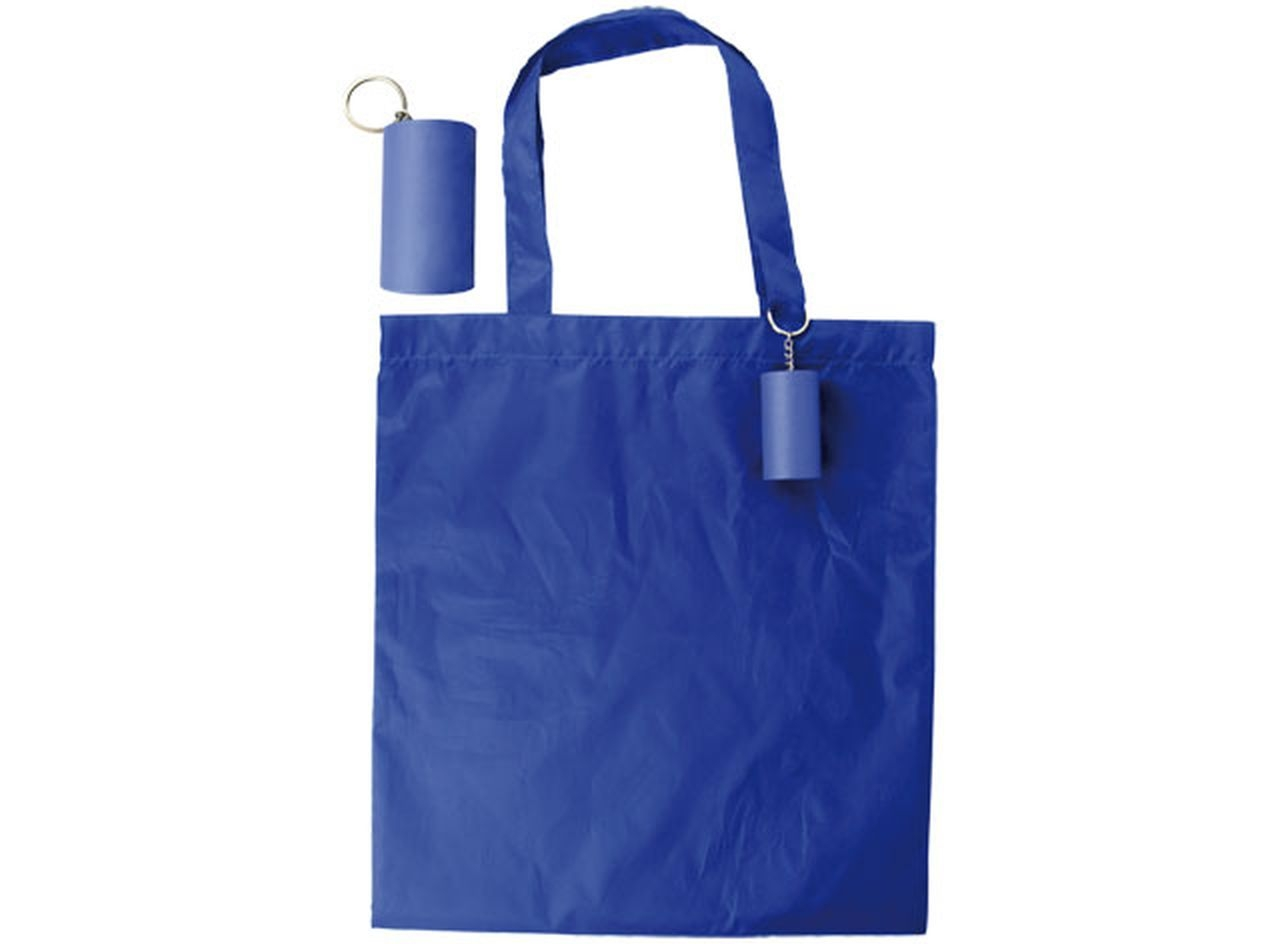 Blue tube shopper cm.43x40x0,5h