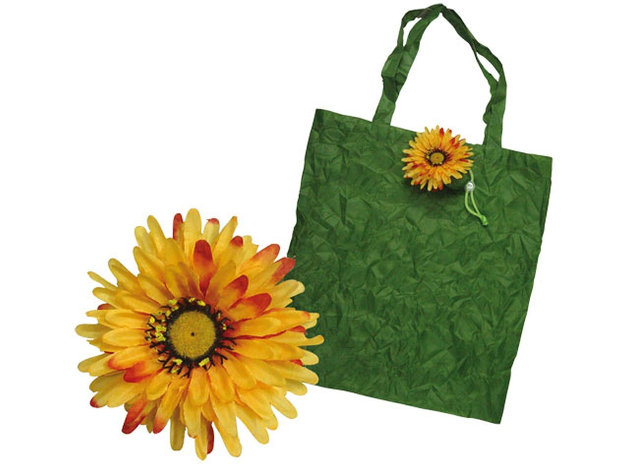 Shopper margherita gialla cm.43x40x0,5h