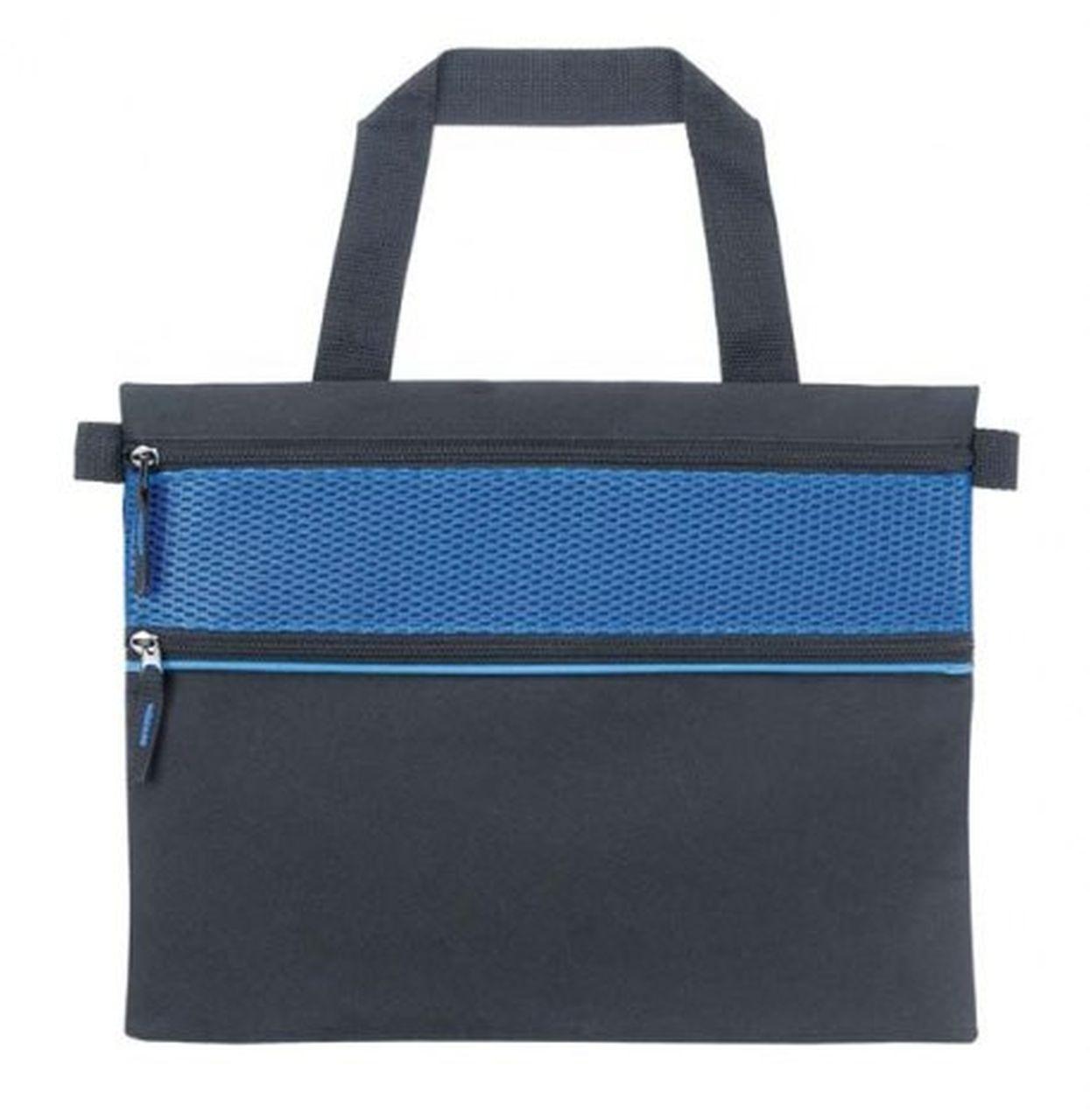 Borsa portadocumenti nera blu cm.36x1x28h