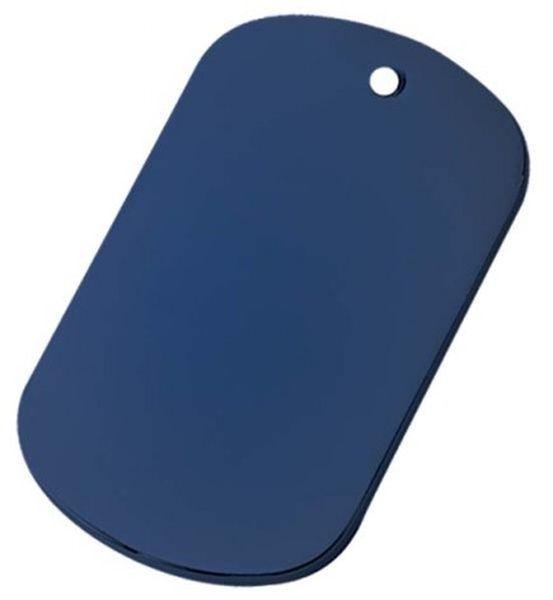 Targhetta marines alluminio blu cm.5x3x0,3h