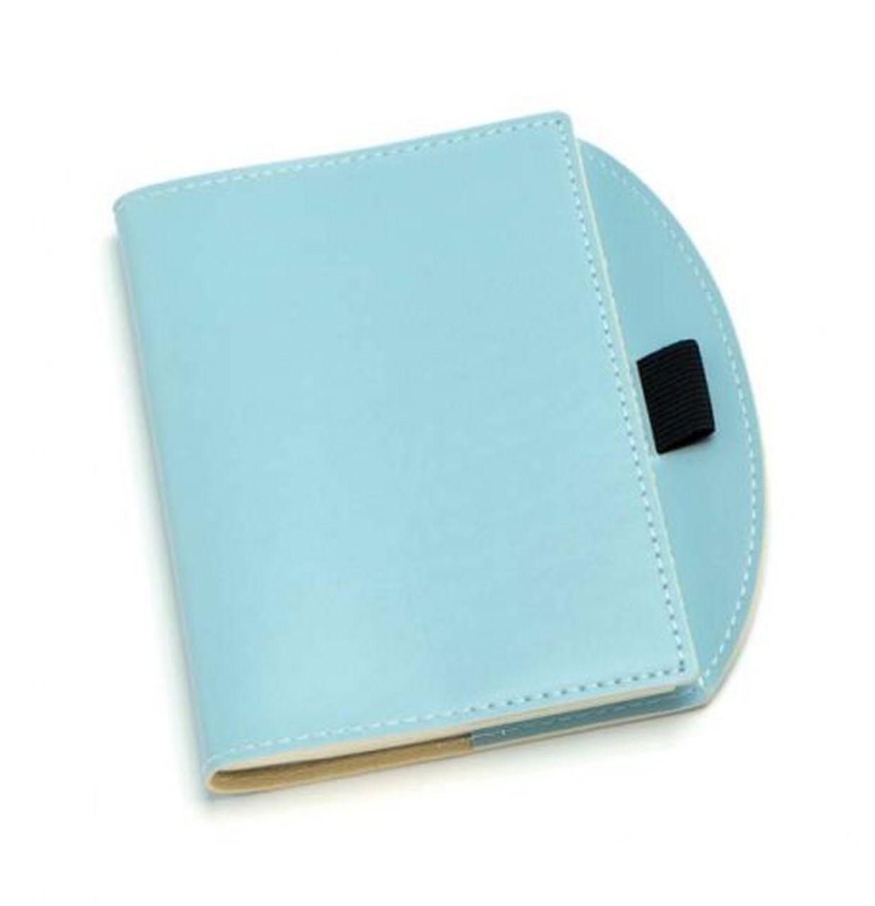 Notebook piccolo azzurro cm.15,5x13x1h