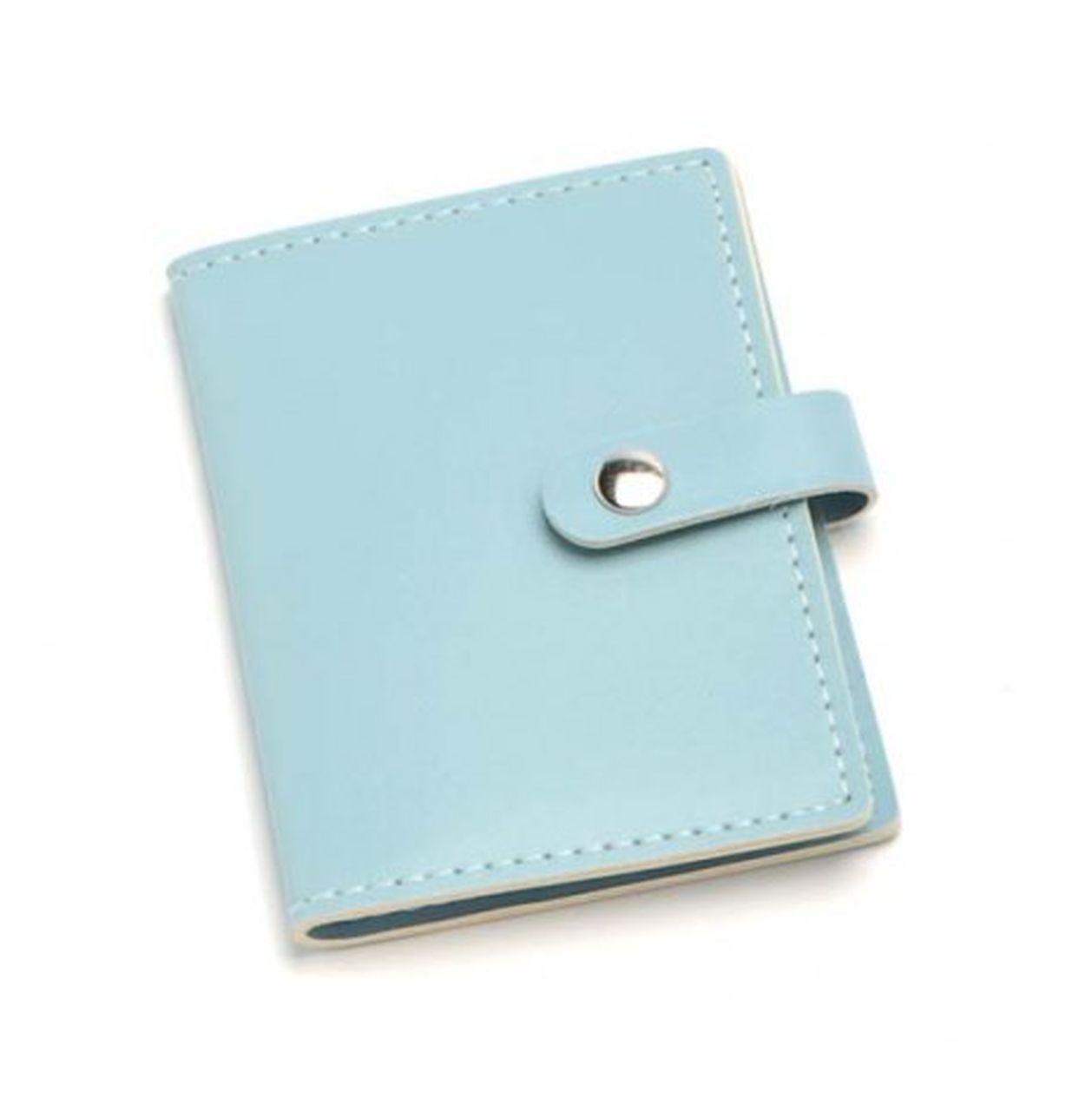 Portabiglietti da visita azzurro cm.11x7,5x1h