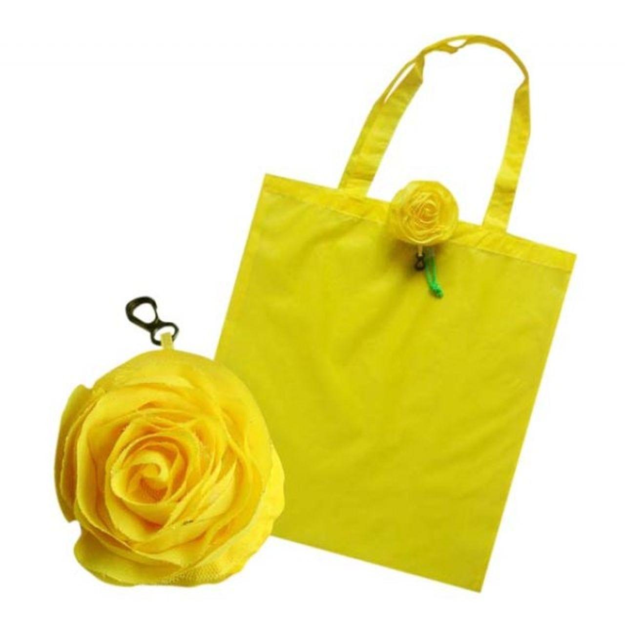 Shopper rosa  gialla cm.43x40x0,5h