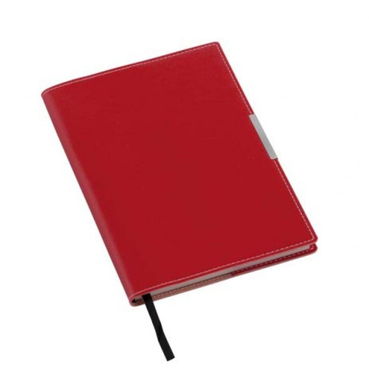 Notebook rosso placca argento cm.21,5x15x1h