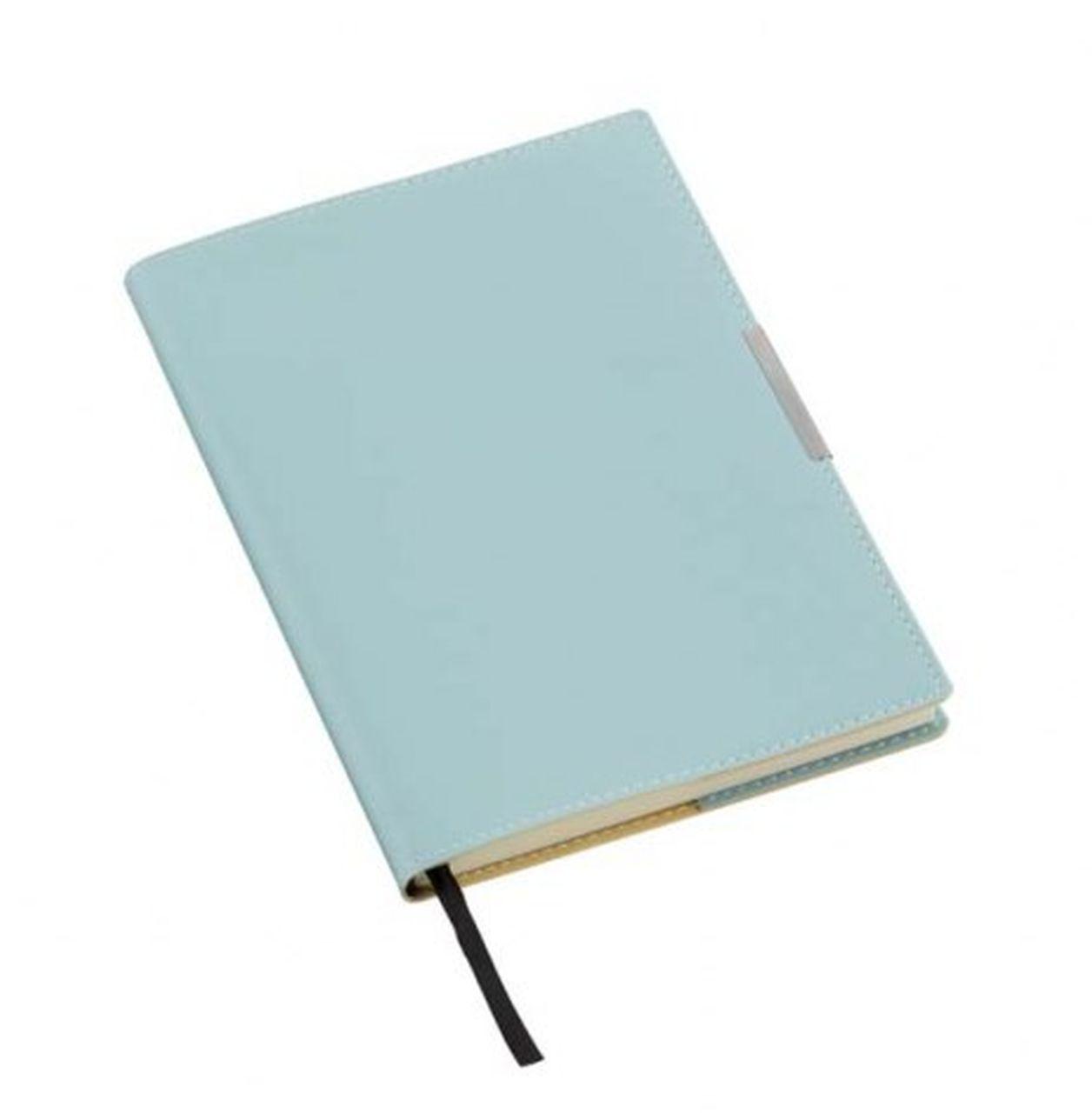 Notebook azzurro placca argento