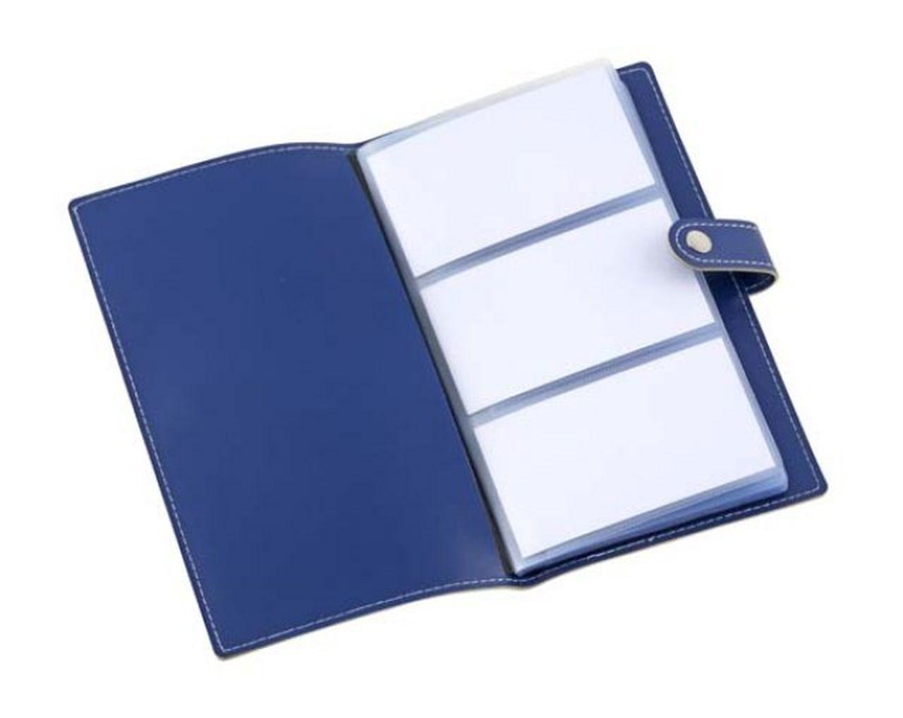 Portabiglietti da visita blu cm.19,5x11x1h