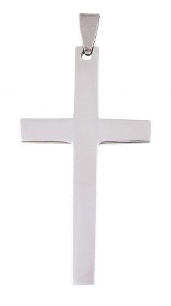 Pendente acciaio croce