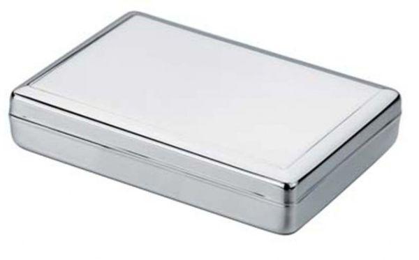 Porta foglietti liscio in silver plated