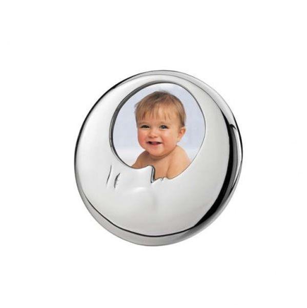 Portafoto luna in silver plated