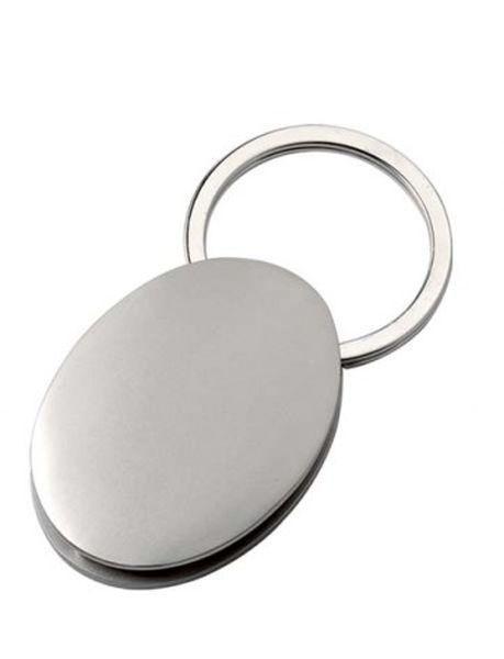 Portachiavi ovale satinato cm.7x3,5x1h