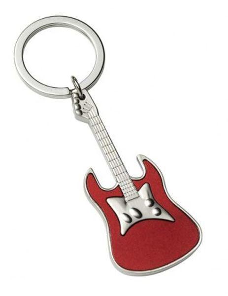 Portachiavi chitarra rossa satinato