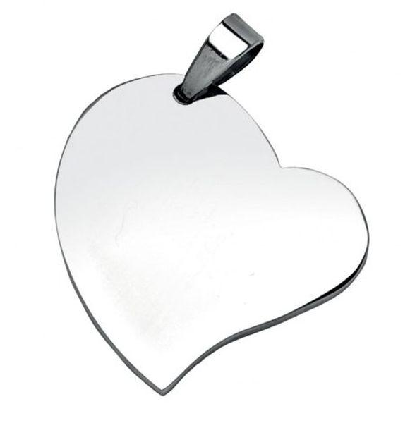 Pendente cuore acciaio