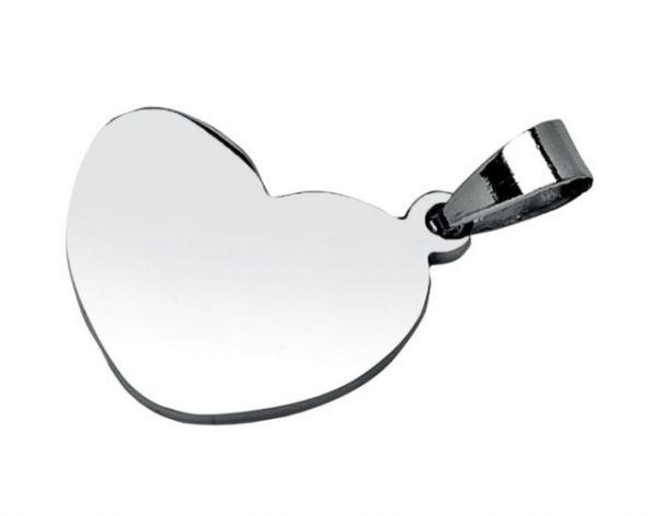 Pendente acciaio cuore cm.2x3x0,2h