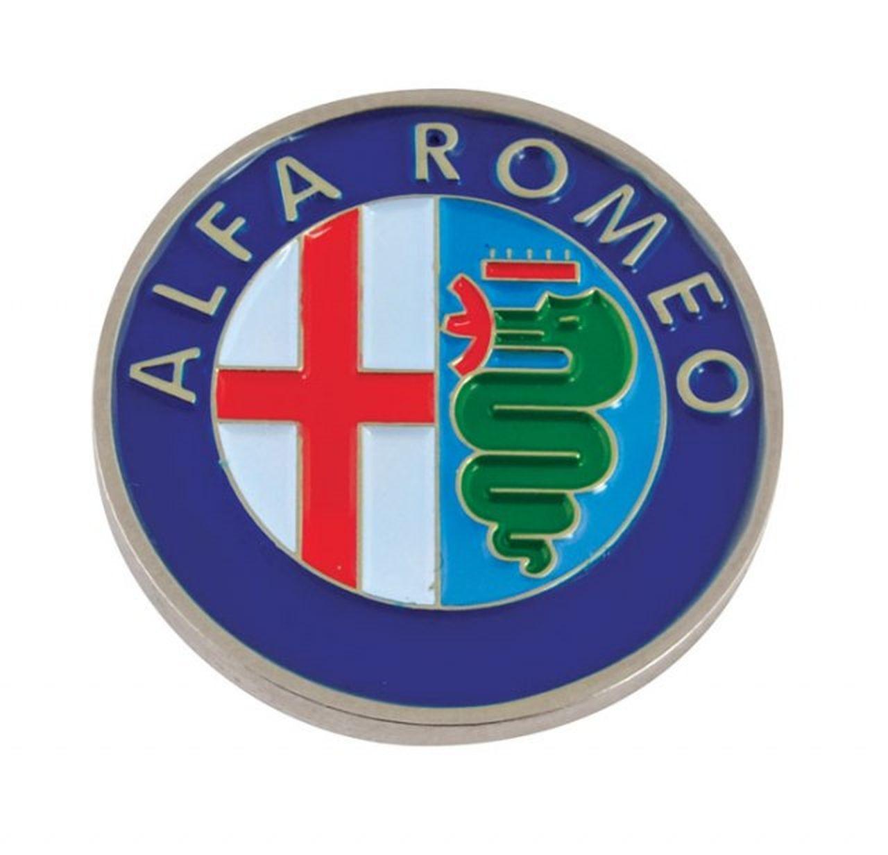 Alfa Romeo piastrina  d=23mm cm.3,5x3,5x0,2h