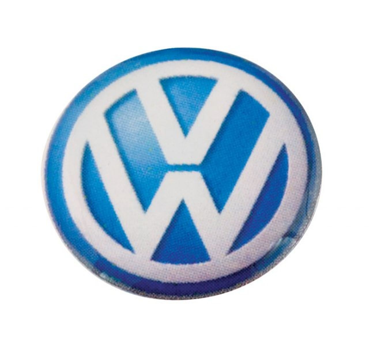 Volkswagen etichetta d=14mm cm.1,4x1,4x0,2h