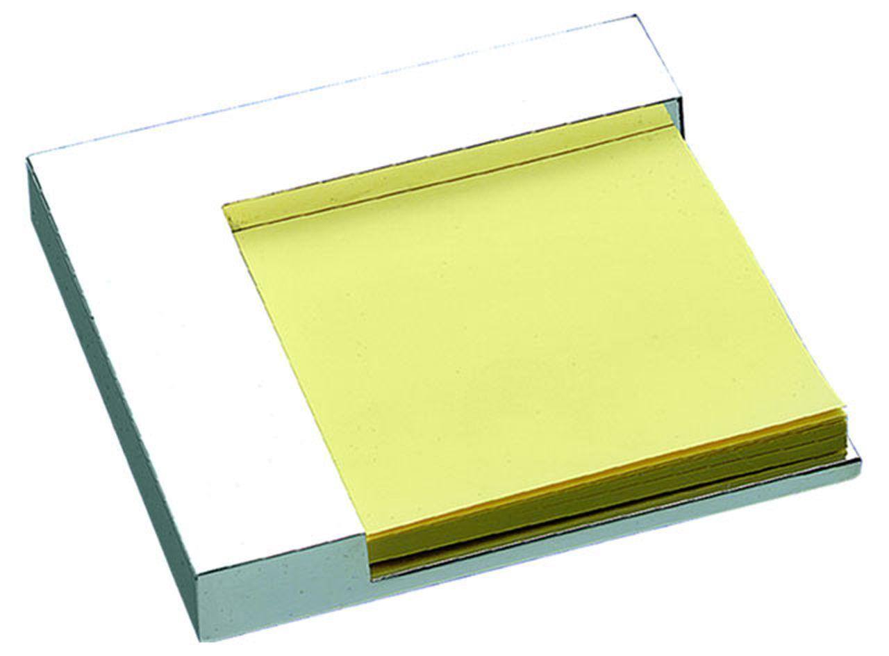 Porta post it in silver plated cm.10x10x2h