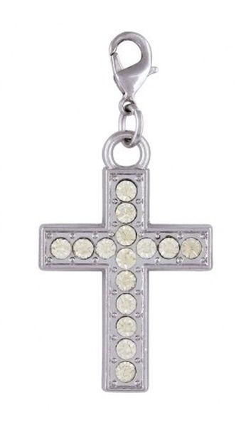 Ciondolo croce con brillanti