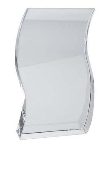 Trofeo pergamena vetro bianco cm.2x6x10,5h