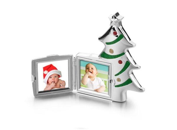 Portafoto albero di Natale in silver plated