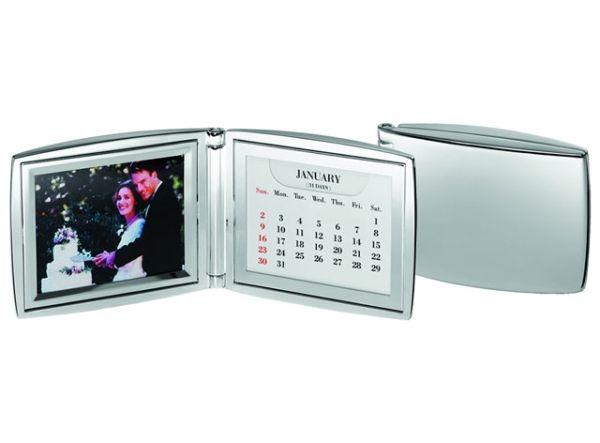 Portafoto calendario foto in silver plated cm.2x19x7h