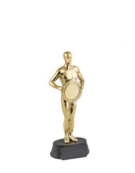 Premio Oscar statuetta in resina colore oro cm.7,5x5,5x18,5h
