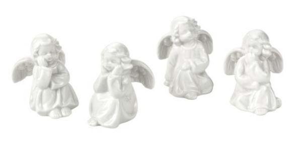 Angioletti in porcellana confezione 4 pezzi