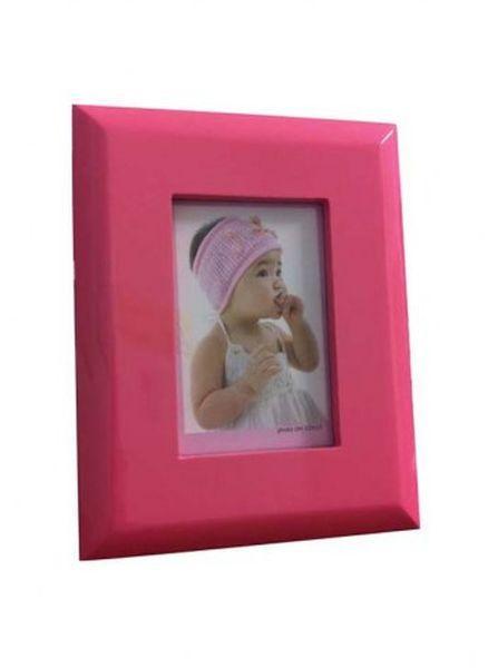 Portafoto rosa piatto