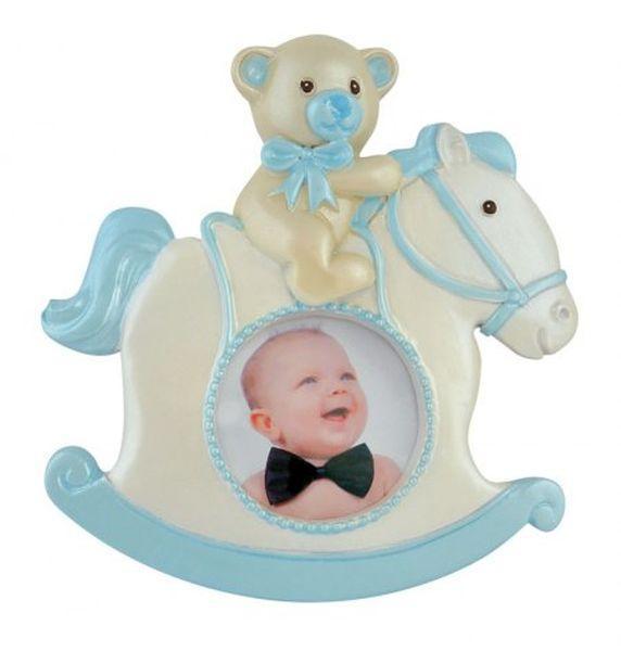 Portafoto cavallino azzurro