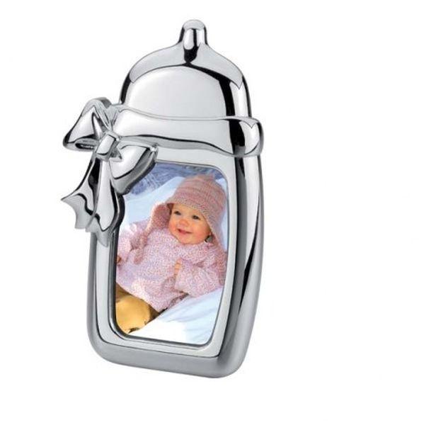 Portafoto biberon foto in silver plated