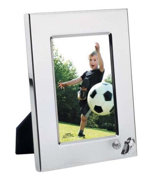 Portafoto soccer in silver plated